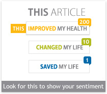 Example of sentiment rating on an article